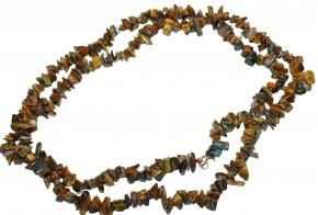 Tigerauge Splitter Halskette