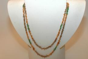 Granat (Mandarin)Mix Halskette Endlos