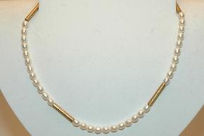 Süsswasserzuchtperle Halskette mit 925er Silber