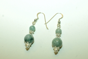 Burma Jade Ohrhänger mit 925 Silber