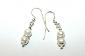 Süsswasserzuchtperlen Ohrhänger mit 925 Silber