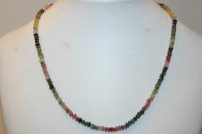 Halskette Turmalin (Linsen)