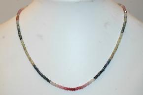 Halskette Turmalin faccetiert