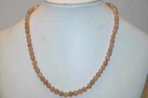 Mondstein Kugel Halskette faccetiert
