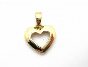Gold Anhänger in Herzform