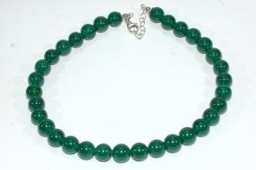 Moos Achat-Halskette mit Verlängerung in 925 Sterlingsilber
