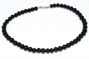 Onyx-Halskette mit 925er Silber
