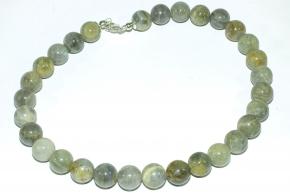 Labladorit-Halskette mit 925er Silber