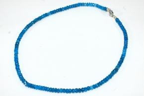 Wunderschöner faccetierte Apatit-Halskette mit 925er Silber