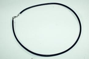 56 cm Lederband aus Rindleder - Schwarz