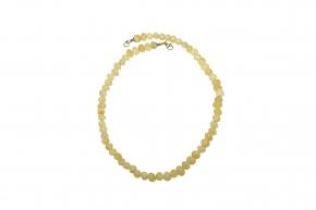 Baltischer Bernstein-Halskette  Weiß-Honig Farbe