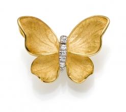 Anhänger 18kt. Gold Schmetterling mit Diamanten 0.05