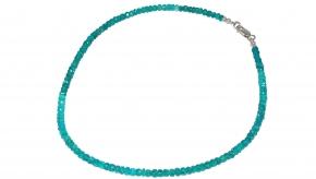 Wunderschöner facettiertApatit-Halskette mit 925er Silber