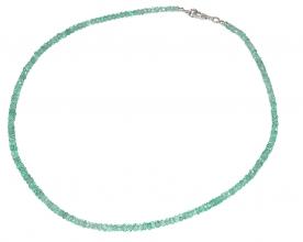 Wunderschöner facettiert Apatit-Halskette mit 925er Silber