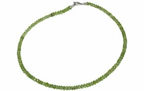 Wunderschöner facettierte Peridot-Halskette mit 925er Silber