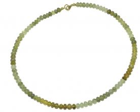 Wunderschöner TsavoritHalskette mit 925er Silbervergoldet