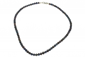Wunderschöner Süsswasser PerlenHalskette mit 925er Silber