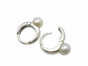 925 Sterlingsilber Creolen mitSüßwasser Perlen