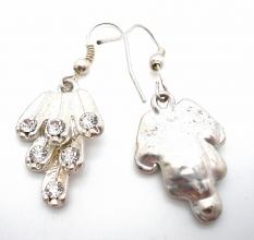 Ohrhänger in Silber Farbe und Zirkonia