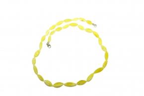 Bernstein-Halskette Weiß bis Honig-Weiß