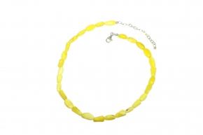 Baltischer Bernstein-Halskette Weiß-Honig Bernstein