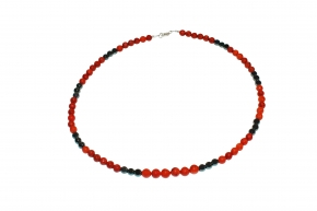 Schaumkoralle/Hämatit-Halskette