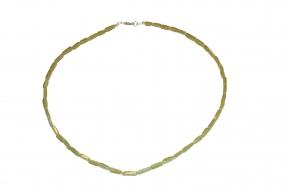 Peridot Kuben-Halskette