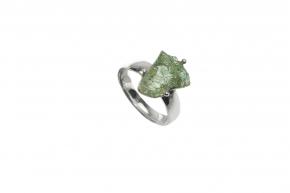 Peridot Natur Ring 925-Silber Größe: 17 mm (57 )