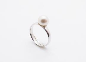 925 Silber Ring mit Süßwasser Perle