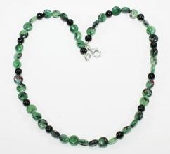 Schöner Rubin-Zoist-Halskette (Drage)