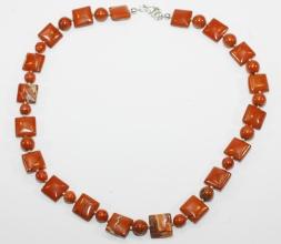 Rote Jaspis Halskette mit 925er Silber