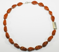 Roter Jaspis Halskette