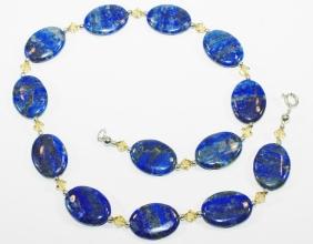 Hochwertig verarbeiteteLapislazuli Halskette