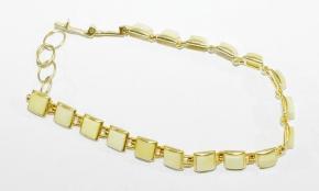Schöne Bernstein-Armband in 925 Silbervergoldetgefasst