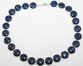 Lapislazuli Halskettemit 925er Silberzwischenteile