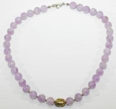 Wunderschöne Amethyst-Halskette mit 925er Silber (Lavendel)