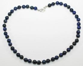 Schöner Sodalith-Perlen Halskette mit Silber Zwischenteile