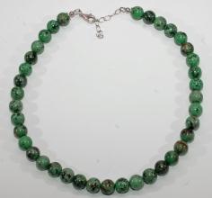 Wunderschöner Afrikanische Türkis -Halskette mit 925er Silber