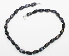 Blaufluss-Halskettefacettiert