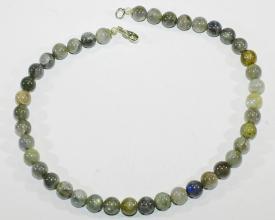 Labradorit-Halskette mit 925er Silber