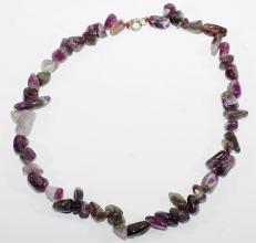 Amethyst Halskette mit 925 er Silber Federring Verschluss