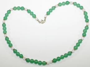 Wunderschöne Halskette: Aventurin-Bergkristall