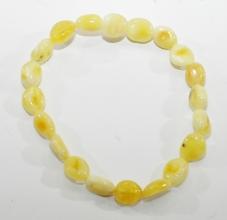 Schöne Honig - WeißBernstein-Armband  auf elastikband
