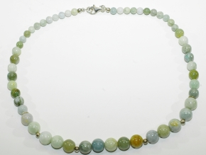 Wunderschöne Burma Jade Halskette mit 925er Silber