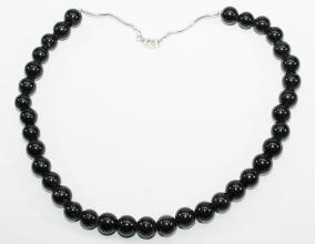 Schöner Onyx-Halskette mit 925er Silber