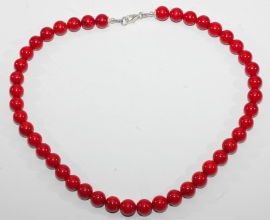 Wunderschöne Koralle rot Halskette