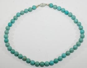 Howlith Halskette mit Magnet Verschluss (versilbert )
