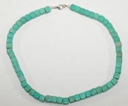 Howlith Halskette mit Karabiner Verschluss (925er Silber)