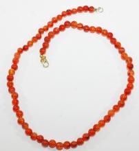 Carneol Kugel-Halskette