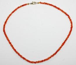 Carneol Linsen Halskette